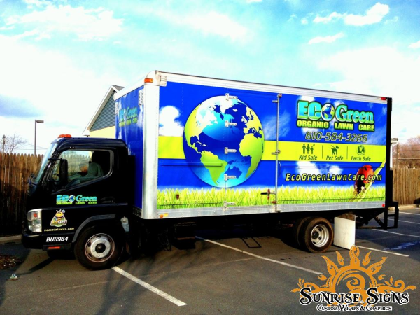 Lawn care box truck wraps