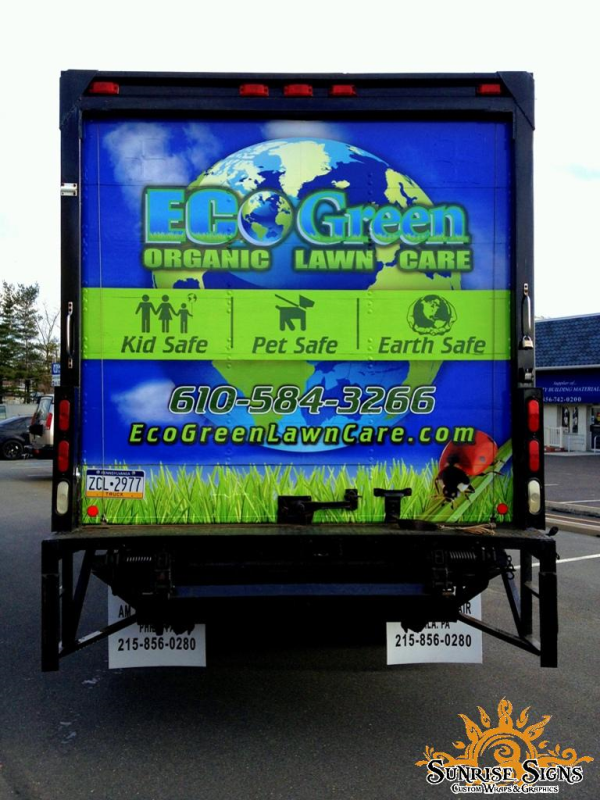 Landscape contractor box truck wraps