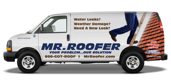 Roofing Contractor Truck Lettering