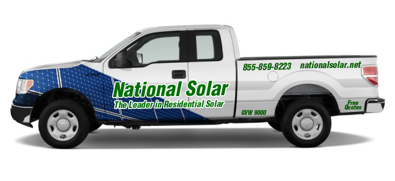 Solar Company Truck Lettering