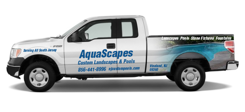 Pool Company Vinyl Truck Lettering Graphics
