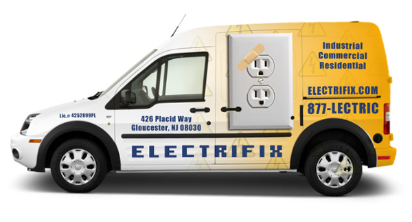 Electrical Contractor Truck Lettering