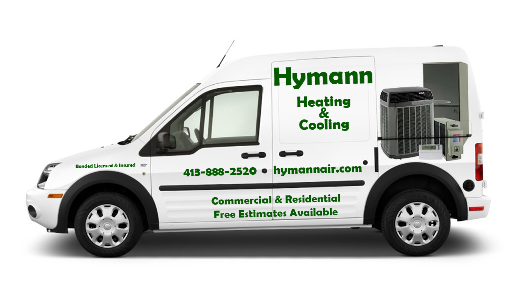 Heat Cooling Company Truck Lettering