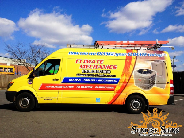 HVAC contractor work van wraps