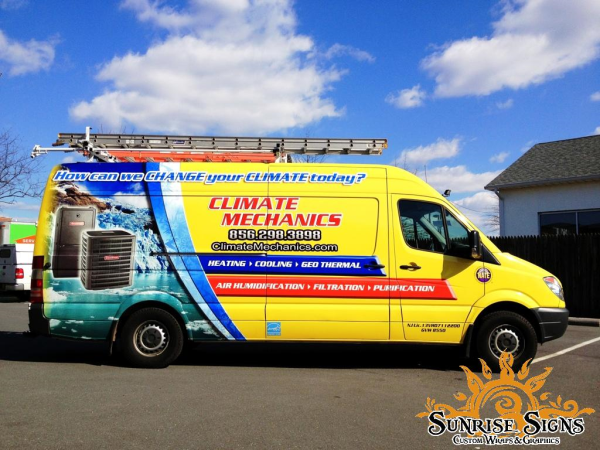 HVAC contractor van wraps
