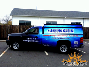 Cleaning contractor work vehicle wraps