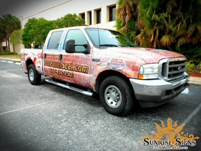 Pool and patio contractor truck wraps
