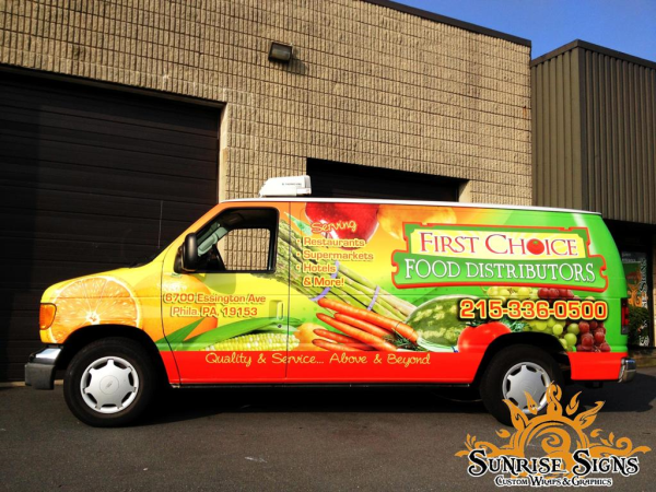 Food Delivery Service van wraps and graphics