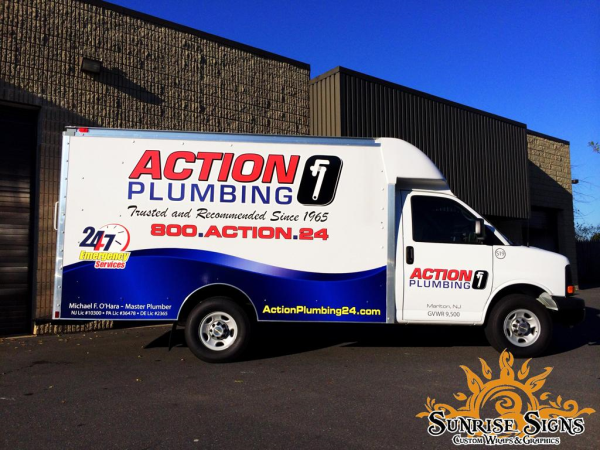 Spartan Van vehicle graphics and vinyl lettering