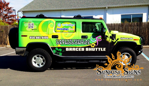 Dr. Phucas dental H2 Hummer vehicle wraps