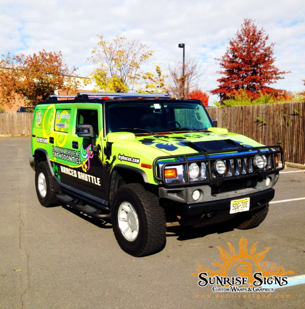 H2 Hummer Shuttle Vehicle Wraps