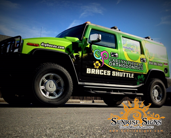 Dental Medical H2 Hummer vehicle wraps