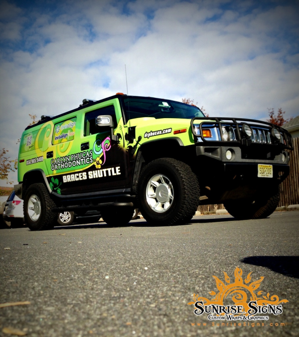 Vehicle wraps for courtesy shuttles