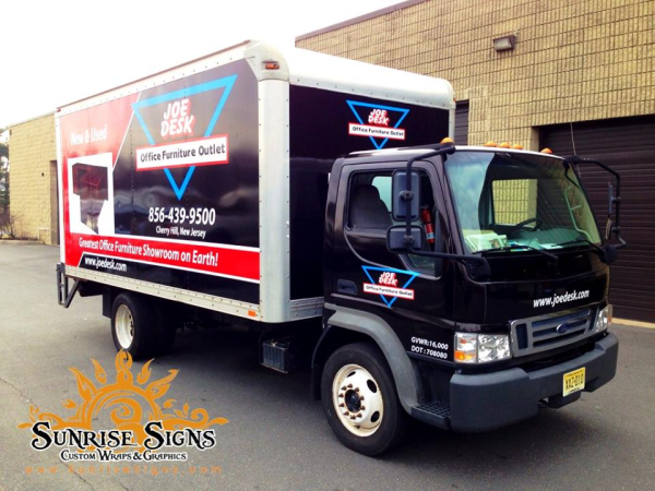 Delivery vehicle box truck wraps NJ