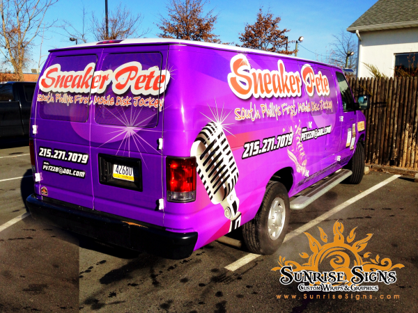 Vehicle wraps for Philadelphia bands