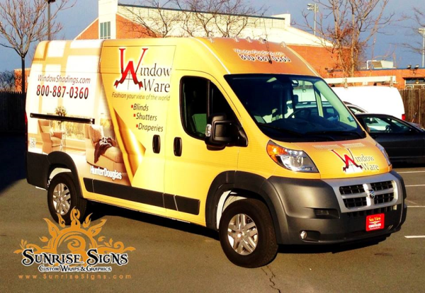 Franchise vehicle wraps and graphics