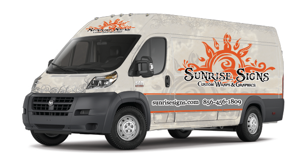 Brand your sign company with RAM ProMaster Wraps and Graphics