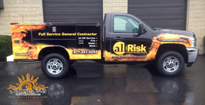 allRisk Property Restoration Ford F250 Utility Truck Fleet Wraps
