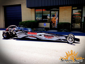 Mini dragster race car wraps