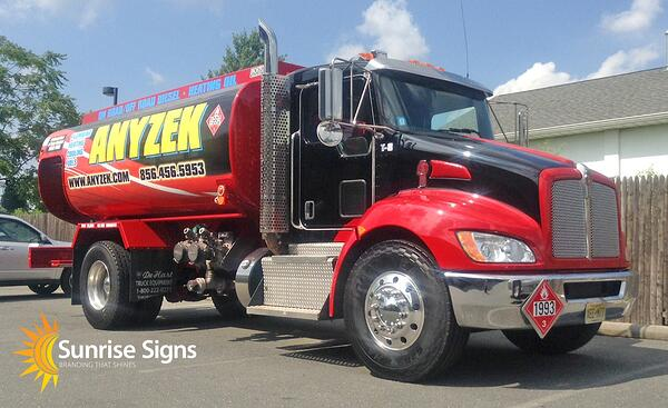 New Jersey Fuel Tanker Vehicle Wraps