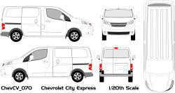 Vehicle Wrap Templates For The Chevy City Express Van