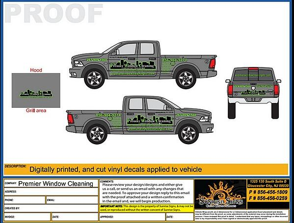 Truck Graphics Design Proofs South Jersey