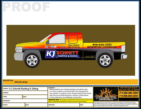 Chevy Silverado Truck Wrap Design Proofs