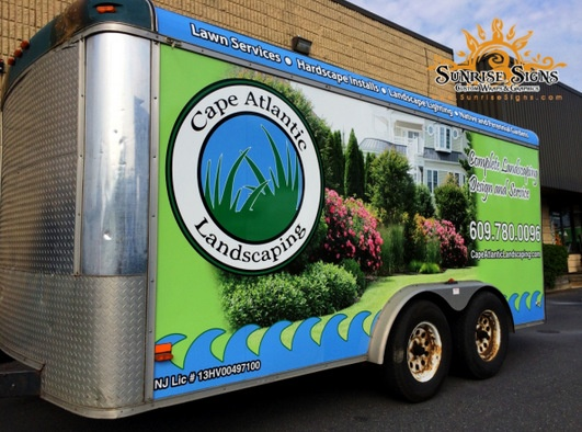 Cargo Trailer Wraps for Landscapers