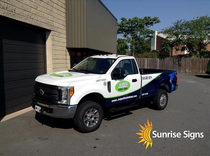 South Jersey Partial Truck Wrap