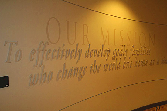 Three Dimensional Letters to Display Your Mission Statement