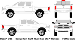 Vehicle Wrap Templates for Dodge Ram Pickup Trucks