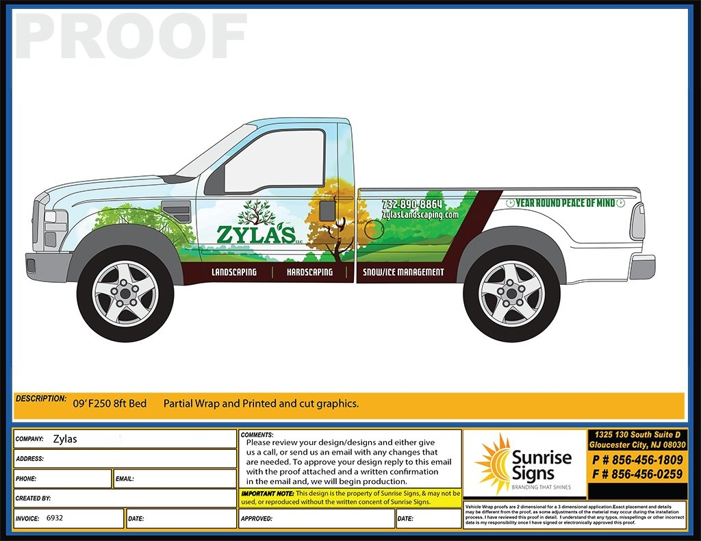 South Jersey Landscaping Vehicle Wraps