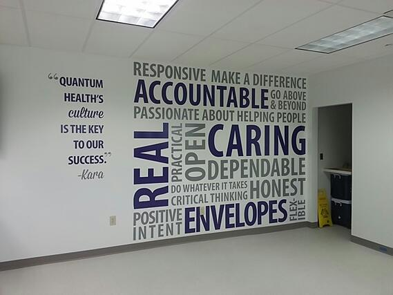 Wall Murals for Corporate Culture Messages