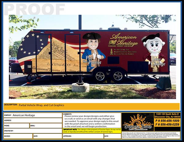Trailer Wrap Design Proofs Philadelphia