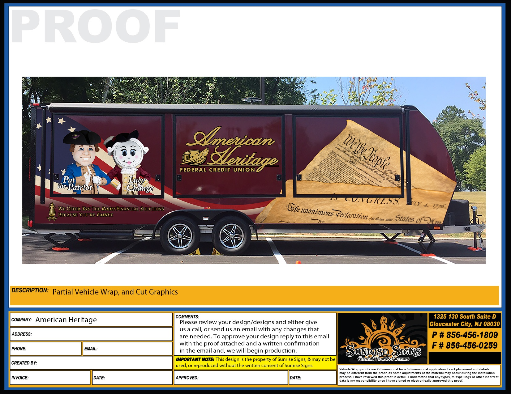Livin'Lite Trailer Wrap Design Proofs