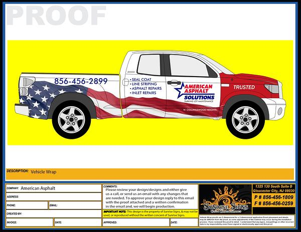 Pickup Truck Graphics Design Proofs