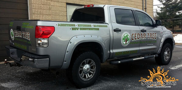 Contractor truck wraps and graphics South Jersey