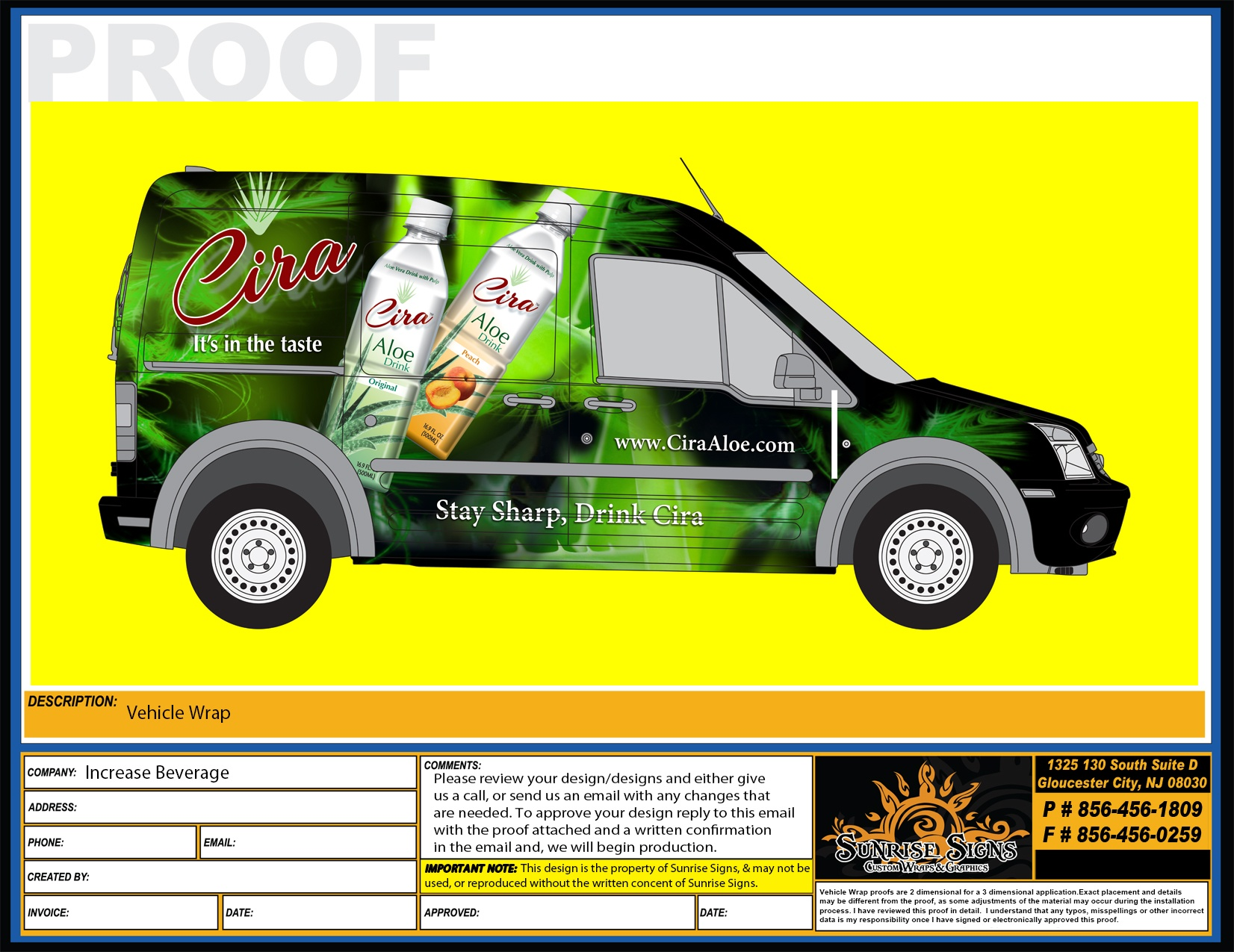 Ford Transit Connect Vehicle Wrap Design Proofs NJ