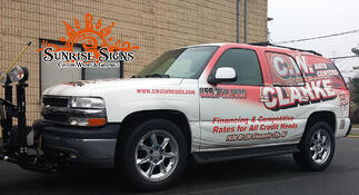 cw clarke auto center wraps chevy tahoe and ford f550 flatbed. Black Bedroom Furniture Sets. Home Design Ideas
