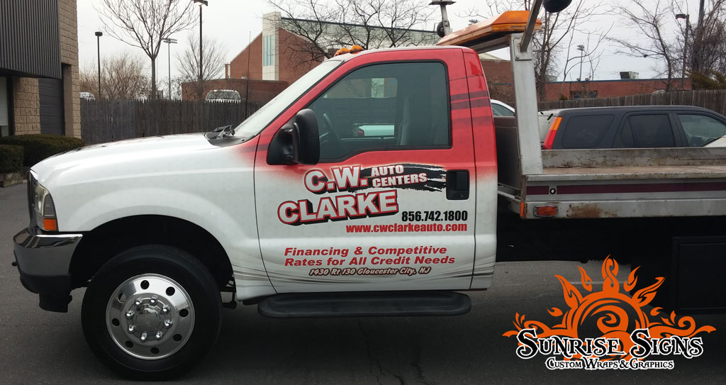 Flatbed trailer cab wraps New Jersey