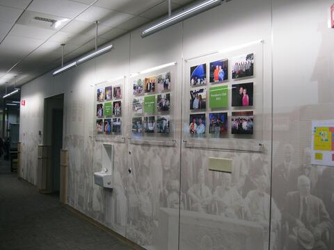 Mounted Wall Displays for Employee Success Stories