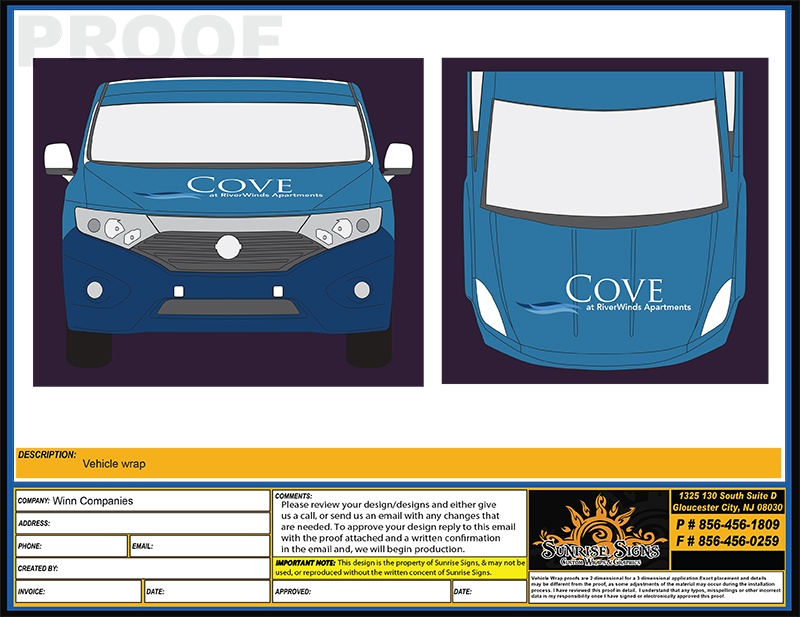 Van Wrap Design Proofs for the Nissan Quest