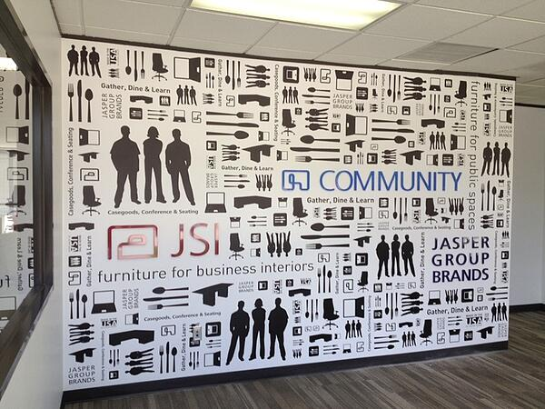 Dimensional Lettering and Graphics to Portray Corporate Culture