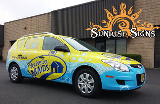 Cleaning contractor car wraps South Jersey