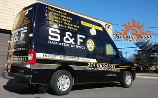 Nissan NV van graphics North Jersey