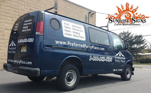 Philly van graphics and lettering
