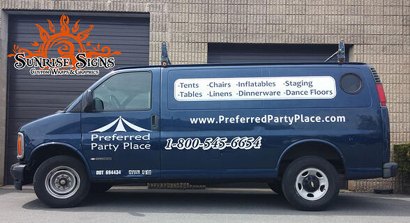 Chevy Express van lettering South Jersey