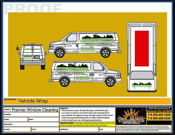 Chevy Express Van Graphic Design Proofs
