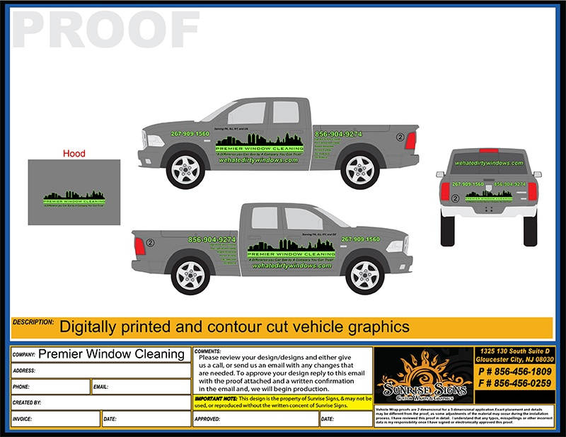 RAM 1500 Truck Lettering Design Proofs