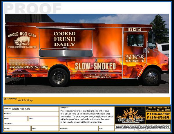 Food truck design proofs South Jersey